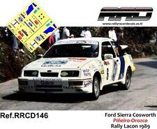 DECAL/CALCA 1/43; Ford Sierra Cosworth; Piñeiro-Orozco; Rally de Lacon 1989