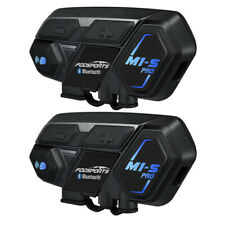 2 Motorcycle Bluetooth Helmet Intercom M1S Pro 8 Riders 2000m Interphone Headset