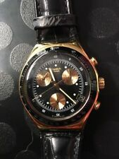 Swatch IRONY Watch Chrono James Bond Gold finger  FOR PARTS ONLY