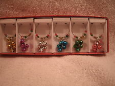 Set of 6 Jingle Bell Wine Glass Charms