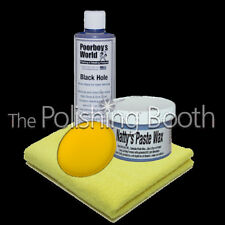 Poorboys World Natty's Blue Paste Wax, Black Hole Show Glaze Kit Poorboys NEW