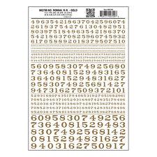 Numbers Roman RR Gold Dry transfer Sheet – Woodland Scenics MG709 - free post F1