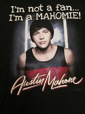 Austin Mahone T-Shirt Not A Fan I'm A Mahomie Short Sleeve Tee Size Medium M