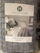 Hotel collection Linen Plaid Matelasse EURO Pillow Sham - Gray