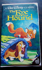 The Fox and the Hound VHS Black Diamond Walt Disney Original Classic 1994 EUC