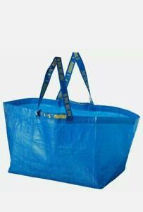 New IKEA FRAKTA Blue Large Reusable 19 Gallon Tote Bag