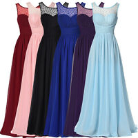 Cheap Womens Maxi Chiffon Evening Cocktail Prom Party Bridesmaid Wedding Dresses