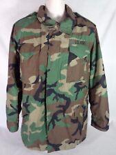 US Army M65 Field Cold Weather Woodland Camouflage Coat MEDIUM LONG Jacket