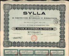 SYLLA, Constructions Automobiles & Aéronautiques (B)