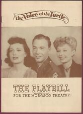 """Voice of the Turtle"" Playbill, Morosco Theatre, 1946, Martha Scott & John Beal"