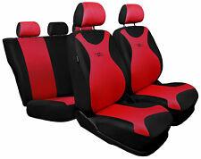 Cubiertas De Asiento De Coche Apto Nissan Pathfinder-Negro/Rojo Estilo Deportivo Conjunto Completo