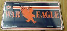 "Brand New! AUBURN UNIVERSITY TIGERS License Plate tag NCAA ""WAR EAGLE!"""