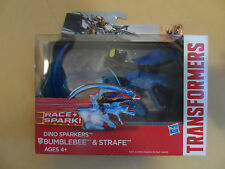 Transformers Aoe Dino sparkers Bumblebee and Dinobot Strafe
