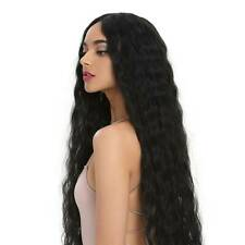60cm Women Long Curly Hair Wavy Wigs Black Red Lace Front Wig Party Cosplay Wigs