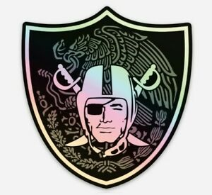 Las Vegas Raiders Holographic Mexico STICKER- Football Raiders Oakland NFL