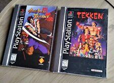 Tekken & Battle Arena Toshinden Sony Playstation - PS1 Fighting Bundle Long Box