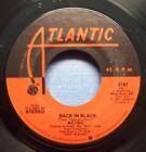 AC/DC - Back In Black - 1980 NM Rock 45