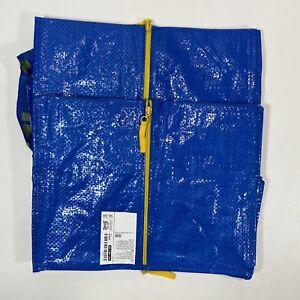 Ikea Zippered Frakta Storage Bag Reusable Blue 20 Gallon Lot Of 2 Pack
