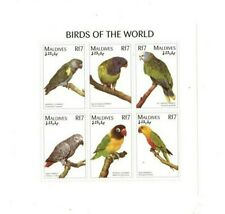 VINTAGE CLASSICS - MALDIVES 9626 - Birds Sheet of 6 Stamps - MNH