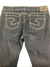 Silver Jeans Womens 34 X 37 Blue Jeans Suki High Skinny