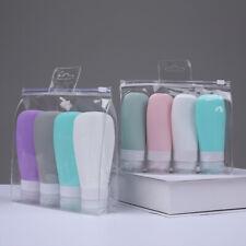 Mini travel Leak Proof Squeezable Silicone Bottle Refillable Cosmetics Shampoo