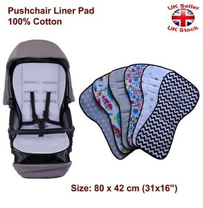 Baby Pram Pushchair Stroller Buggy Liner Pad Mattress Cover 100% Cotton