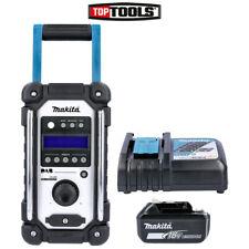 More details for makita dmr109 dab 10.8v-18v lxt/cxt job site radio + 1 x 5.0ah battery & charger