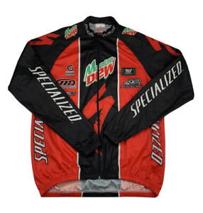 Specialized Bicycle Line Full Zip Long Sleeve Cycling Jacket Mens Size S Red/Bla