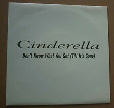 """CINDERELLA DON'T KNOW WHAT YOU GOT (DJ) 7"""" DJ PROMO IN PROMO ONLY COVER UK"""