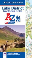 A-Z Lake District (Northern Fells) Adventure Atlas (Paperback, OS 25000 maps)