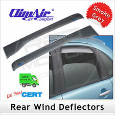 CLIMAIR Car Wind Deflectors PEUGEOT 208 5-Door 2012 onwards REAR Pair NEW