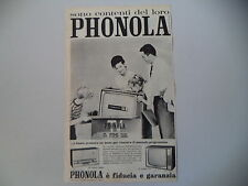 advertising Pubblicità 1961 TELEVISORE PHONOLA 23''