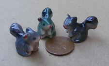 1:12 unico in Ceramica Multicolore SCOIATTOLO DOLL HOUSE miniatura Accessorio Giardino