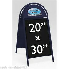 """New Booster Commercial Tubular Magnetic A-frame A-board 20x30"""" Sign BLUE FRAME"""