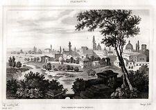 PIACENZA: Panorama.Ducato di Parma e Piacenza.Emilia. ACCIAIO.Stampa Antica.1838