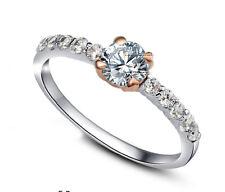 ViVi Ladies Engagement sterling silver Diamond Ring 8440a