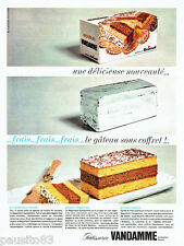 PUBLICITE ADVERTISING 026  1964  Patisserie Vandamme  gateau Napolitain