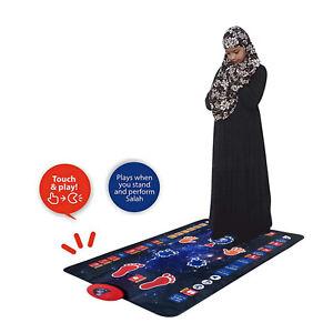 Child Muslim Prayer Rug Kids Pray Teaching Talking Music Salah Mat Carpet