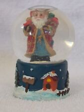 Small Santa Clause Christmas Snow Globe