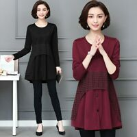 Womens Button Down O Neck Midi Dress Ladies Summer Casual Burgundy shirt dress