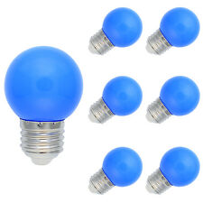6X E27 Farbig LED Leuchtmittel Birnenform Bunt Tropfenlampe Glühbirnen Blau