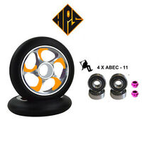 2X PRO STUNT SCOOTER GOLD STORM METAL CORE WHEELS 100mm 88A ABEC 11 BEARING