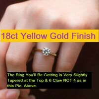 Gorgeous 18ct Yellow Gold Finish Diamond Solitaire Engagement Ring