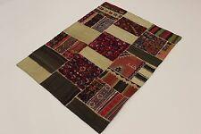 nomades patchwork délavé look antique PERSAN TAPIS tapis d'Orient 1,65 x 1,30