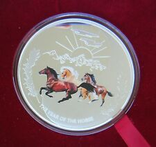 2013 Tuvalu, Year of the Snake 1oz Silver Colour Proof Coin, Perth Show Special