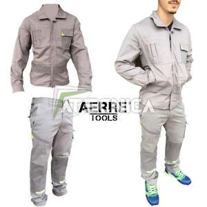 Tenue de travail élastique en coton 245 AERRE PowerG stretch multipoches
