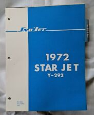 1972 SNO JET,  STAR JET SNOWMOBILE PARTS MANUAL / YAMAHA 292cc