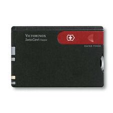 🌟🌟🌟 0.7103 VICTORINOX CLASSIC SWISSCARD BLACK WALLET CREDIT CARD 10 TOOLS