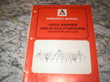 Allis Chalmers 1200 Field Cultivator Owners Operators Manual
