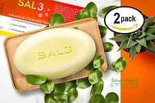 SAL3® SalicylicAcid,Sulfur Soap, 2x100g Pack, Mite Acne Psoriasis Ekzem Fungus